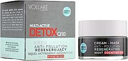Духи, Парфюмерия, косметика Ночная крем-маска для лица - Vollare Multi-Active Detox Q10 Cream-Mask Anti-Pollution Regenerating