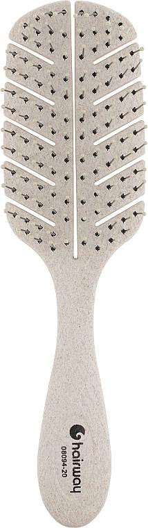 Щетка для волос массажная, 10-рядная, кремовая - Hairway Eco Corn