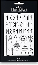 Духи, Парфюмерия, косметика Черные переводные тату - Miami Tattoos Runes