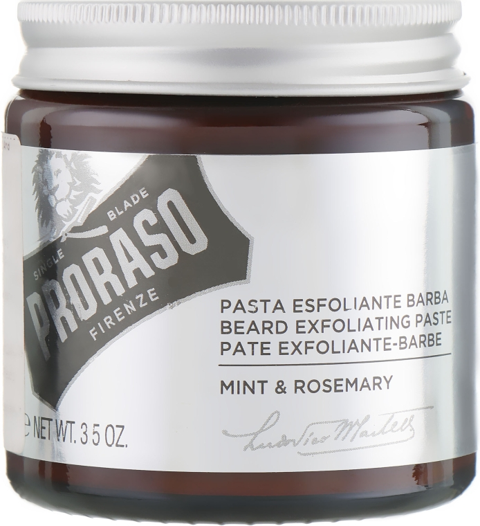 Скраб для бороды и лица - Proraso Beard Exfoliating Paste Mint & Rosemary