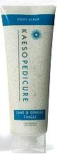 Духи, Парфюмерия, косметика Скраб для ног «Лайм и имбирь» - Kaeso Pedicure Lime & Ginger Tingle Foot Scrub