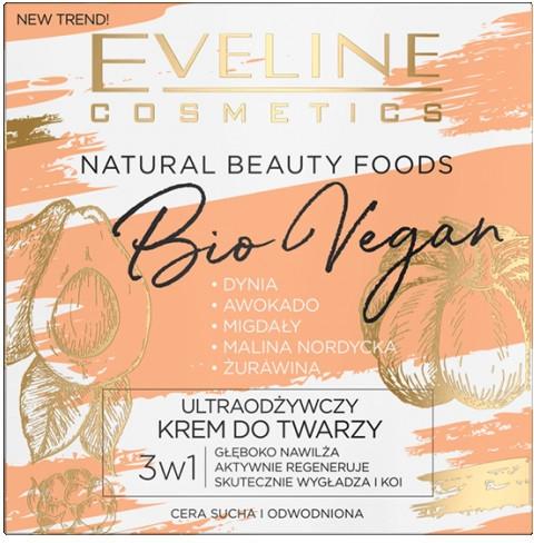 Ультра-питательный крем для лица - Eveline Cosmetics Natural Beauty Foods Bio Vegan