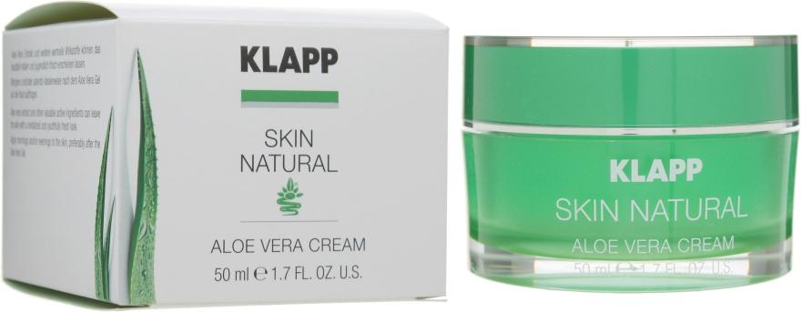 "Крем для лица ""Алоэ Вера"" - Klapp Skin Natural Aloe Vera Cream"