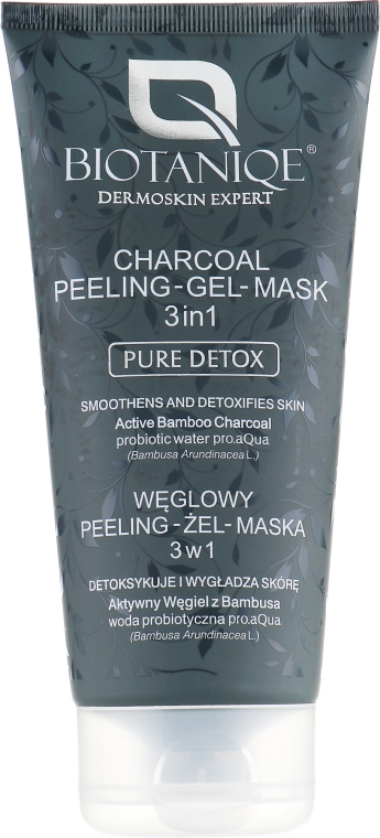 Гель-пилинг и маска для лица с бамбуковым углём - Maurisse Biotaniqe Charcoal Peeling–Gel–Mask 3in1