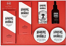 Парфумерія, косметика Набір - Hawkins & Brimble Set (scr/125ml+asb/125ml+br/oil/50ml+sh/cr/100ml+wax/100ml+sh/brush)
