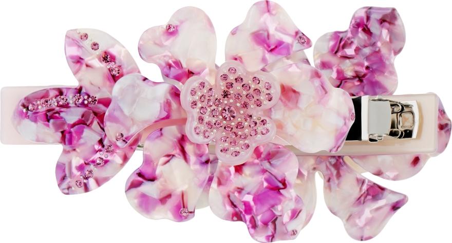 """Заколка-автомат для волос """"Орхидея"""", 0807, фиолетовая - Элита"""