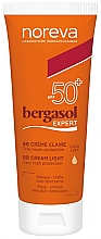 Духи, Парфюмерия, косметика BB крем для лица SPF50 + - Noreva Laboratoires Bergasol Expert BB Cream Light SPF50+
