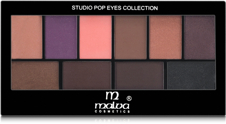 Палитра теней для век - Malva Cosmetics Studio Pop Eyes Collection Eyeshadow