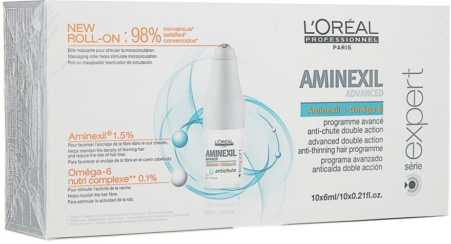 Средство для лечения выпадения волос + пипетка - L'Oreal Professionnel Aminexil + Omega-6