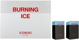 Духи, Парфюмерия, косметика Iceberg Burning Ice - Набор (edt/50ml + a/sh/lot/50ml)