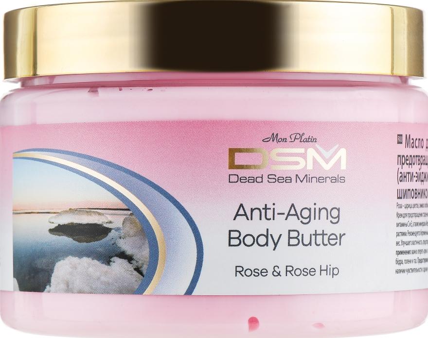 Масло для тела предотвращающее старение кожи с розой и шиповником - Mon Platin DSM Anti-aging Body Butter Rose Hip & Roses Flower