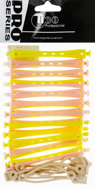 Бигуди-коклюшки d7, желто-розовые - Tico Professional
