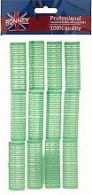 Духи, Парфюмерия, косметика Бигуди на липучке 20/63, зеленые - Ronney Professional Velcro Roller