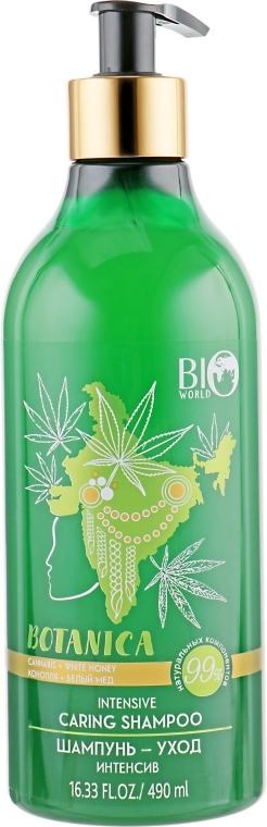 "Шампунь ""Конопля, белый мед"" - Bio World Botanica Shampoo"