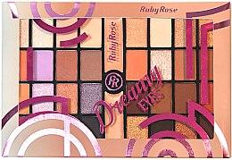 Духи, Парфюмерия, косметика Палетка теней для век, 32 оттенка - Ruby Rose Eyeshadow Palette Dreamy Eyes