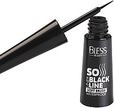 Подводка для глаз с мягкой кисточкой - Bless Beauty So Black Line Soft Brush Eyeliner — фото N2