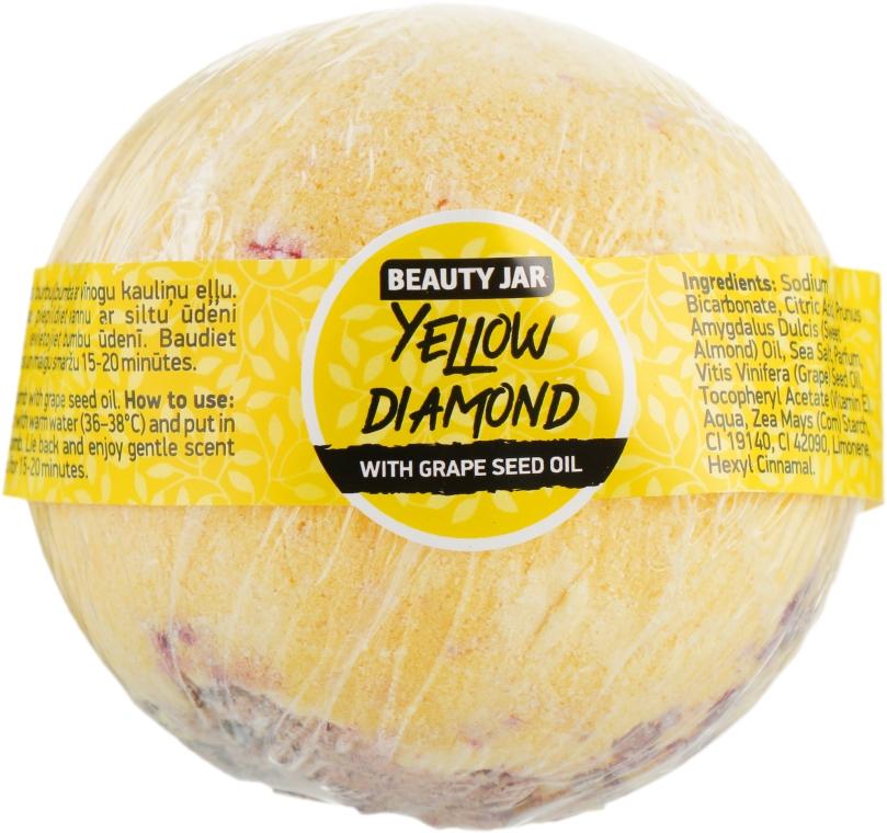 Бомбочка для ванны - Beauty Jar Yellow With Grape Seed Oil Yellow Diamond Natural Bath Bomb
