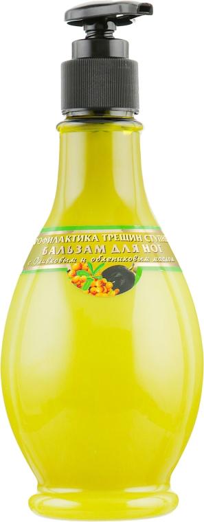 Бальзам для ног заживляющий трещины с оливковым и облепиховым маслом - Viva Oliva
