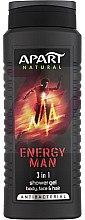 Духи, Парфюмерия, косметика Гель для душа - Apart Natural Energy Man 3-in-1 Shower Gel
