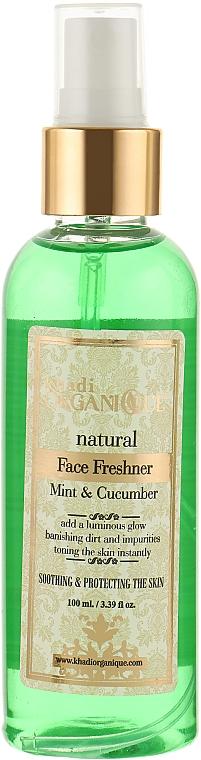 """Натуральный освежающий тоник-спрей для лица """"Мята и огурец"""" - Khadi Organique Mint And Cucumber Face Fresher"""