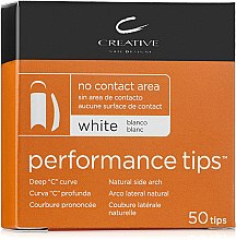 Духи, Парфюмерия, косметика Типсы без контактной зоны - CND White Performance Tips
