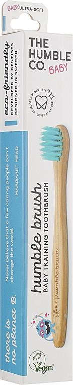 """Зубная щетка бамбуковая для младенцев и маленьких детей, ультрамягкая,""""Голубая"""" - The Humble Co. Baby Ultra Soft Toothbrush"""