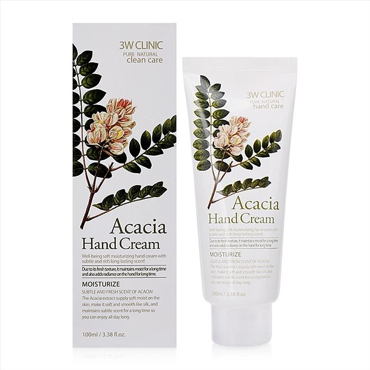 "Крем для рук ""Акация"" - 3W Clinic Moisturizing Acacia Hand Cream"