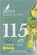 Духи, Парфюмерия, косметика Маска минеральная с пребиотиком №115 - Sativa Extra Care Prebiotic Clay Mask