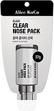 Духи, Парфюмерия, косметика Черная маска для лица - Alice Koco Black Clear Nose Pack