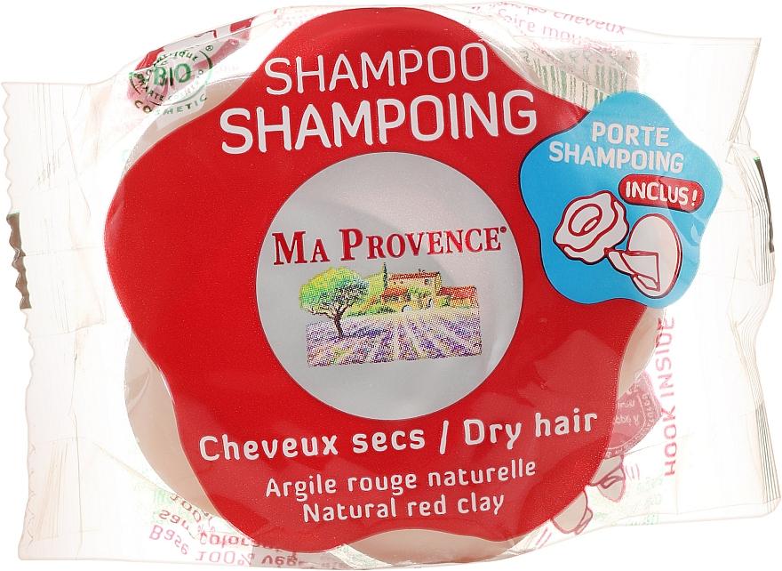 """Твердый биошампунь для сухих волос """"Красная глина"""" - Ma Provence Shampoo"""