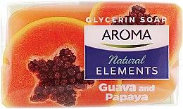 "Духи, Парфюмерия, косметика Туалетное мыло ""Гуава и папайя"" - Aroma Natural Elements Toilet Soap Guava & Papaya"