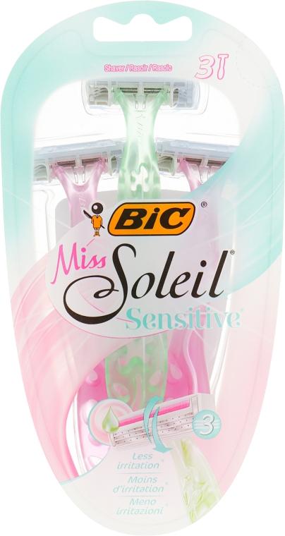 Женский одноразовый станок , 3 шт. - Bic Miss Soleil 3 Sensitive