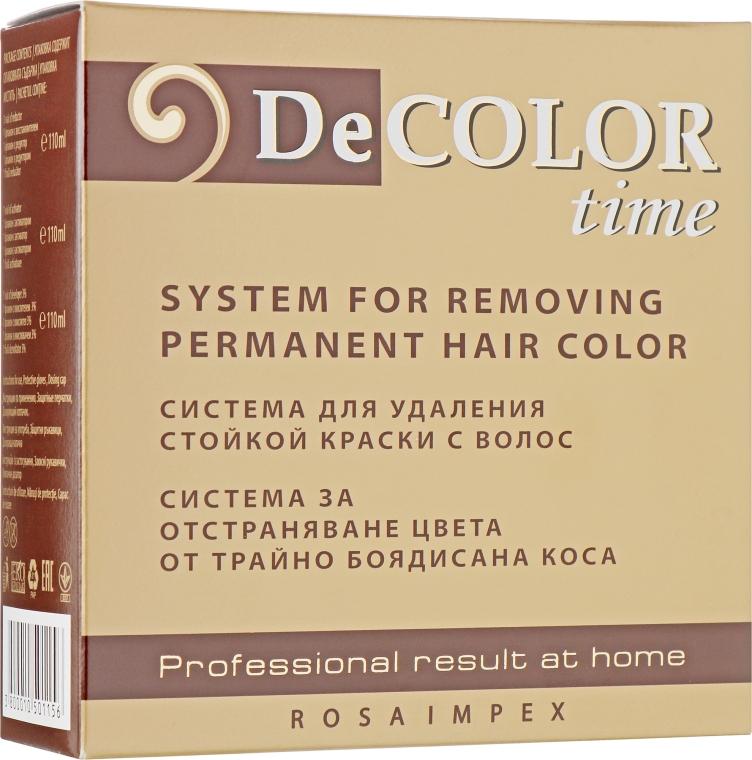 Смывка стойкой краски для волос - Decolor Time System For Removing Permanent Hair Color