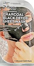 Духи, Парфюмерия, косметика Детокс-маска - 7th Heaven Men's Charcoal Black Detox Sheet Mask