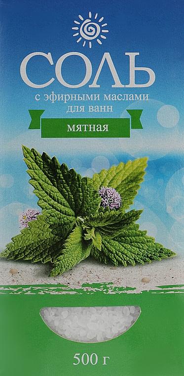 Соль морская с эфирным маслом мяты - Карапуз
