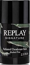 Духи, Парфюмерия, косметика Replay Signature For Men Replay - Дезодорант-стик