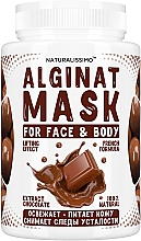 Духи, Парфюмерия, косметика Альгинатная маска с шоколадом - Naturalissimoo Chocolate Alginat Mask