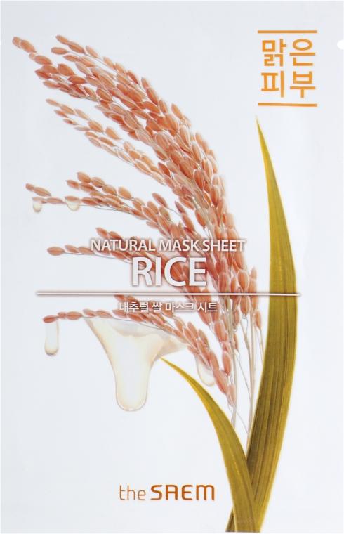Питательная тканевая маска - The Saem Natural Mask Sheet Rice