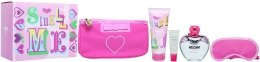 Духи, Парфюмерия, косметика Moschino Pink Bouquet - Набор (edt/100ml + b/lot/100ml + lip gloss/10ml + bag)