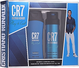 Духи, Парфюмерия, косметика Cristiano Ronaldo CR7 Play It Cool - Набор (sh/gel/200ml + deo/spray/150ml)