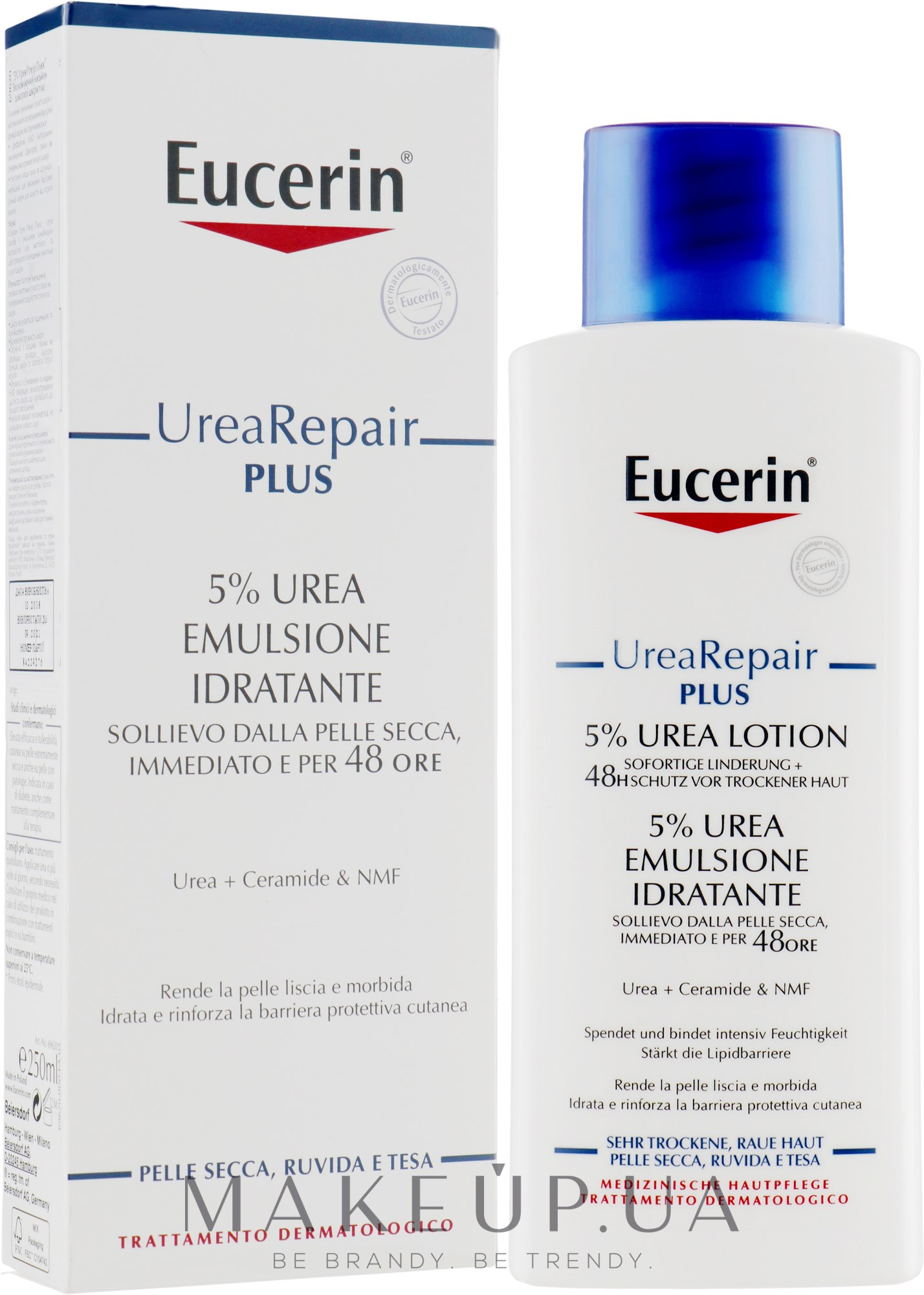 Легкий увлажняющий лосьон для тела для сухой кожи - Eucerin UreaRepair PLUS Lotion 5% Urea — фото 250ml