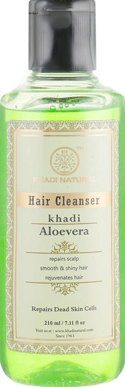 "Натуральный аюрведический шампунь из индийских трав ""Алоэ вера"" - Khadi Natural Aloevera Herbal Hair Cleanser"