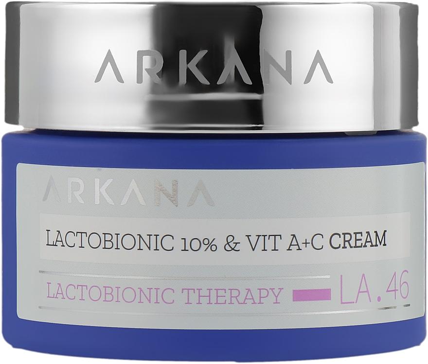 Крем для лица с лактобионовой кислотой и витаминами А и С - ARKANA Lactobionic Therapy Cream