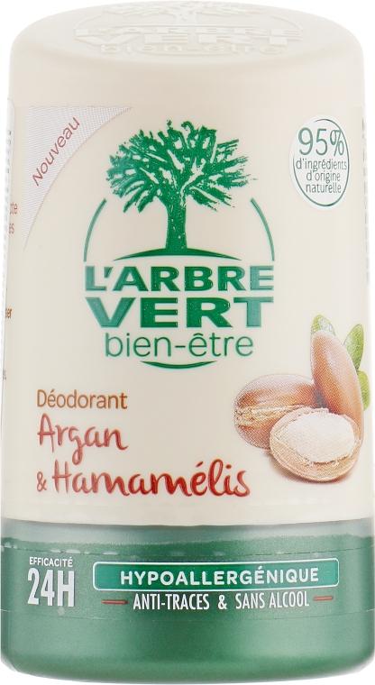 Дезодорант с экстрактами арганы и гамамелиса - L'Arbre Vert Deodorant