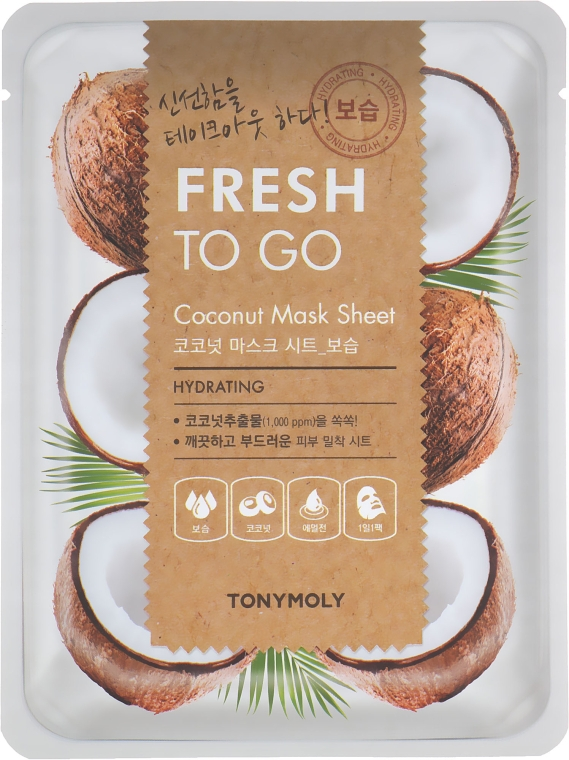 Тканевая маска с маслом кокоса - Tony Moly Fresh To Go Coconut Mask Sheet Hydrating