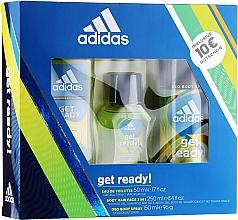 Парфумерія, косметика Adidas Get Ready for Him - Набір (edt/100ml + deo/150ml + s/g/250ml)