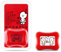 Духи, Парфюмерия, косметика Штамп для стемпинга прозрачный, красный - Konad Clear Jelly Stamp