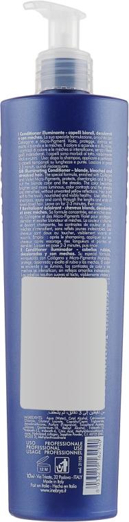 Кондиционер для осветленных и мелированных волос - Inebrya Pro-Blonde Conditioner Illuminating — фото N2