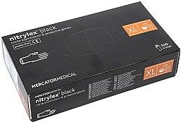 Духи, Парфюмерия, косметика Перчатки нитриловые, смотровые, черные, размер XL - Mercator Medical Nitrylex Black