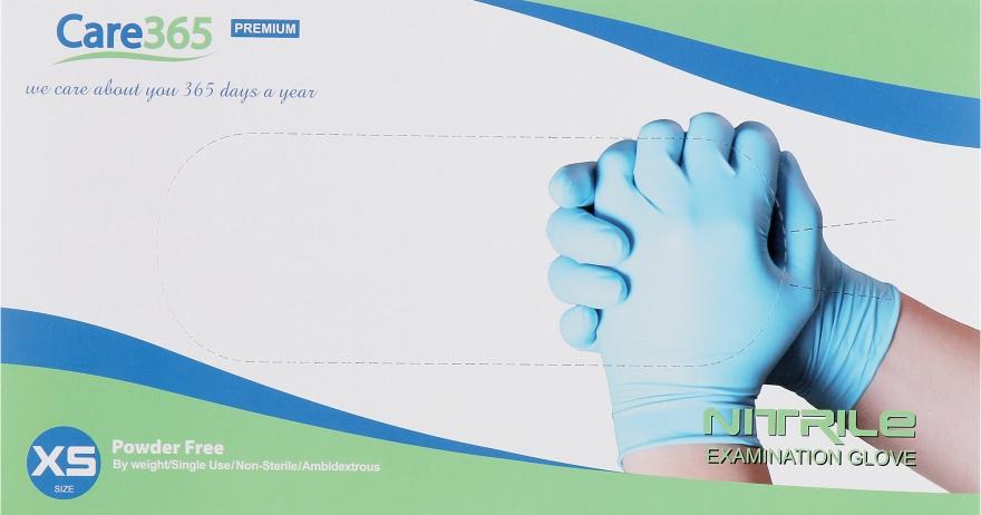 Перчатки нитриловые, неопудренные, голубые, размер XS - Avenir Cosmetics